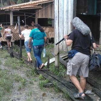 Visita de TV Francesa à Belém