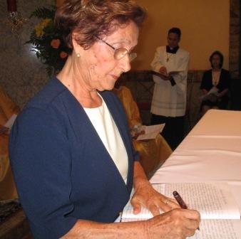 Nota de falecimento de Alice Nogueira, membro de aliança consagrada da Comunidade Mar a Dentro