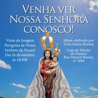 Imagem Peregrina de Nossa Senhora de Nazaré visita a Mar a Dentro