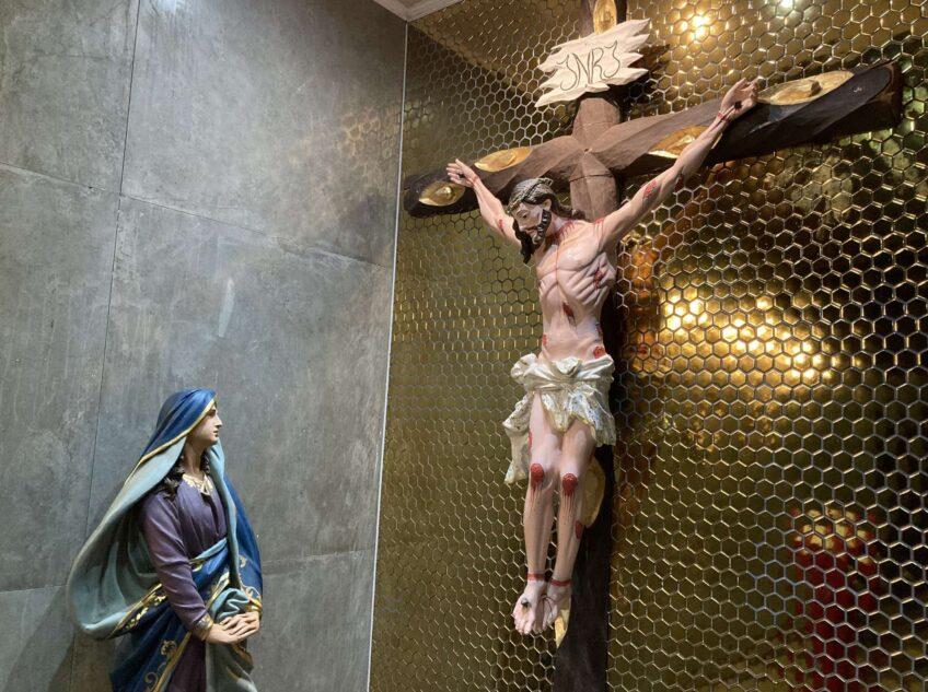 Benção do lugar do calvário no futuro Santuário de Santa Teresinha de Adoração Perpétua